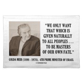 Golda Meir som är, styr av vårt egna Bordstablett