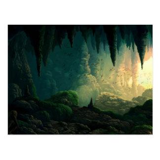 Golem i grotta vykort