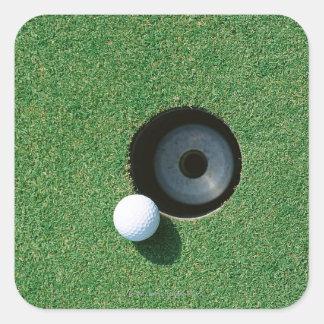 Golf 2 fyrkantigt klistermärke