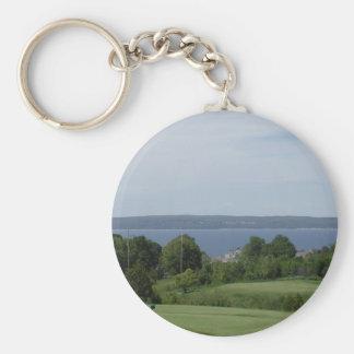 Golf (3) rund nyckelring
