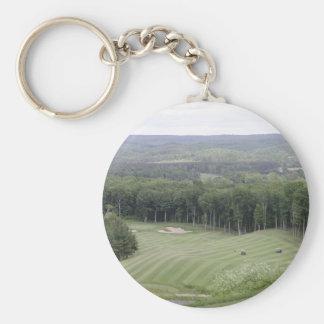 Golf (4) rund nyckelring