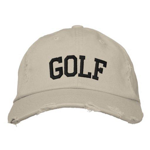 Golf broderad hatt