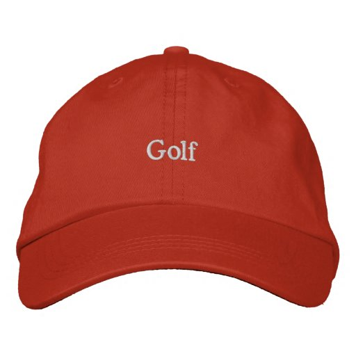 Golf Broderad Keps
