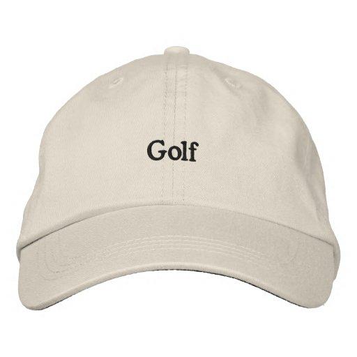Golf Broderade Baseball Kepsar