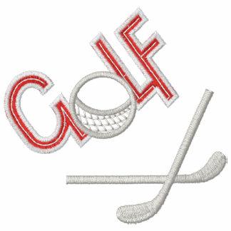 Golf broderad skjorta jacka