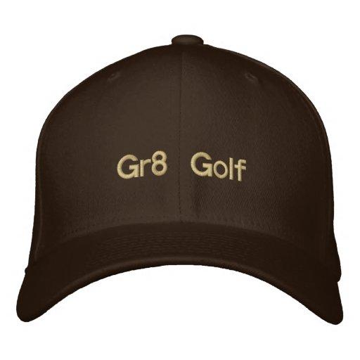 Golf broderat brunt lock Gr8 Kepa
