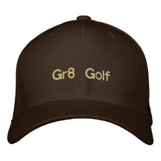 Golf broderat brunt lock Gr8 Hatt