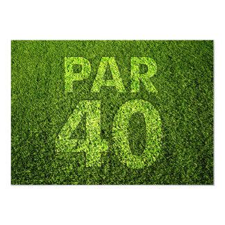 Golf den 40th födelsedagsfesten 12,7 x 17,8 cm inbjudningskort