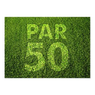 Golf den 50th födelsedagsfesten 12,7 x 17,8 cm inbjudningskort