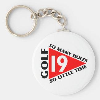 Golf det 19th hål rund nyckelring