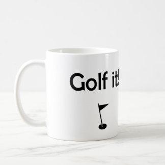 Golf det! kaffemugg