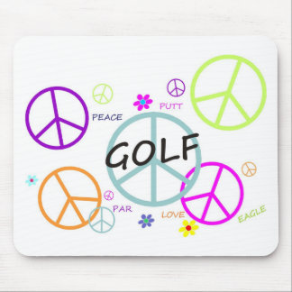 Golf färgad fredssymboler musmatta