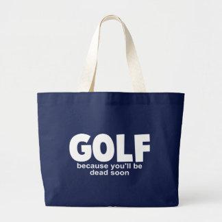 Golf för död jumbo tygkasse