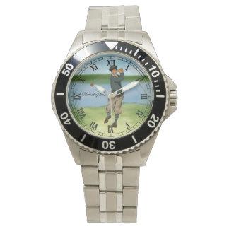 Golf för golfare för personligvintagelook armbandsur