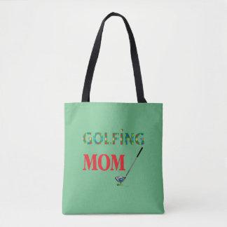 GOLF - GOLFSPELMAMMA, grönt, coola Tygkasse