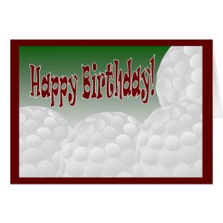 Golf - grattis på födelsedagen från den största hälsningskort