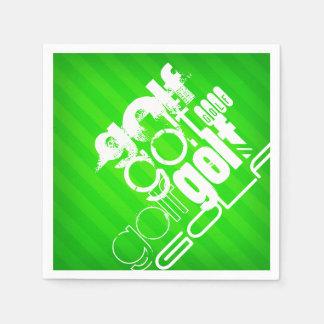 Golf; Gröna Stripes. för neon Pappersservetter