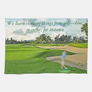 Golf-hur att lida kökshandduk