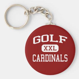 Golf - kardinaler - mittet - Morton dunge Illinois Rund Nyckelring