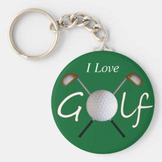 Golf Keychain (anpassadet) Rund Nyckelring