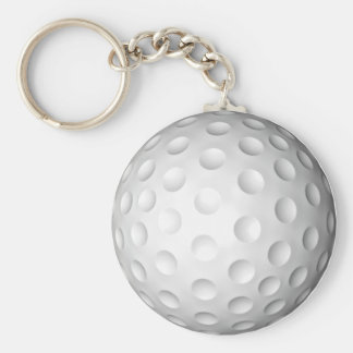 Golf Keychain Rund Nyckelring