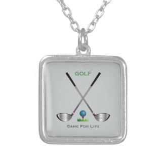 GOLF - lek för liv Silverpläterat Halsband