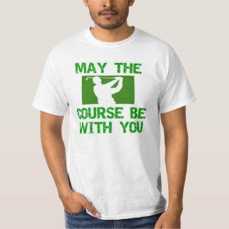 Golf-Maj Course är med dig Tee Shirts
