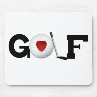 Golf med golfbollen musmatta