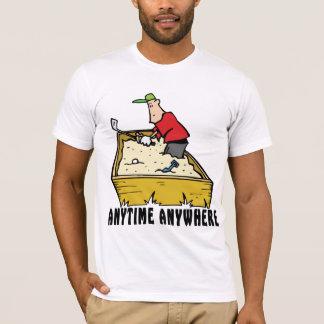 Golf när som helst någonstans T-tröja Tee