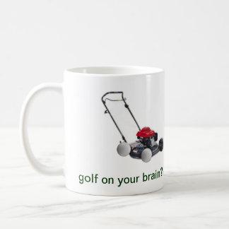 golf på din hjärnmugg kaffemugg