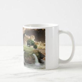 Golf på sköldpaddastrand kaffemugg