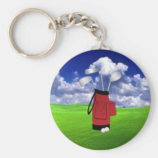 Golf Rund Nyckelring