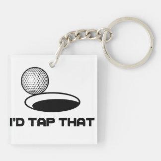 Golf skulle jag klapp det fyrkantigt dubbelsidigt nyckelring i akryl