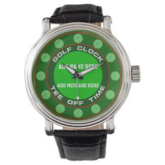Golf tar tid på klockan armbandsur