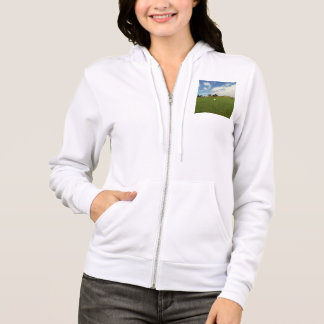 Golf_The_Game_Ladies_White_Fleece_Hoodie Tee