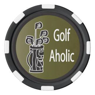 GolfAholic golfare Poker Marker