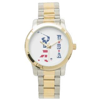 Golfare för USA golfAmerika flagga Armbandsur