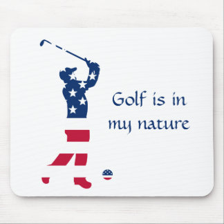 Golfare för USA golfamerikanska flaggan Musmatta