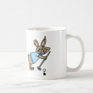 Golfare för världsmästarepappakanin kaffemugg
