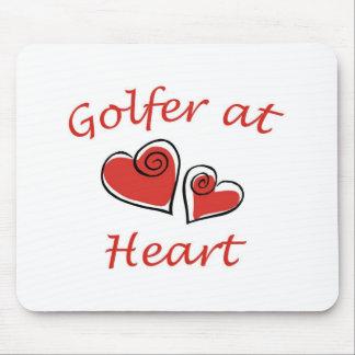 Golfare på hjärta musmatta