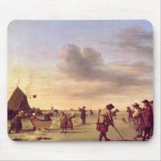 Golfare på isen nära Haarlem, 1668 Musmatta