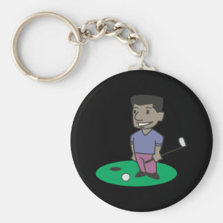 Golfare Rund Nyckelring