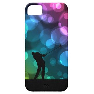 Golfare som kör grafiska Bokeh iPhone 5 Hud