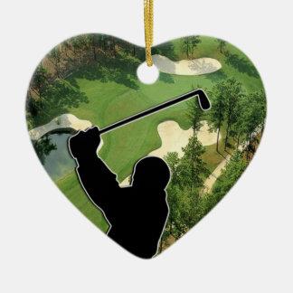 Golfbana Julgransprydnad Keramik