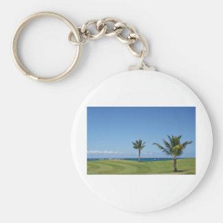 Golfbana Rund Nyckelring