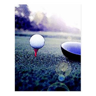 Golfboll & fladdermöss vykort