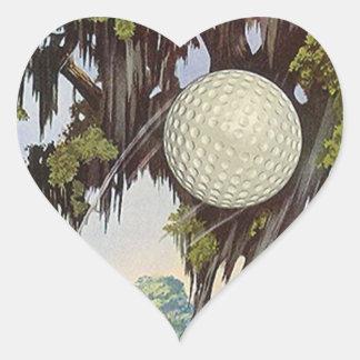 Golfboll för klistermärkear för hjärtformat klistermärke