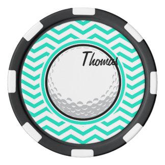 Golfboll; Grön sparre för Aqua Poker Marker