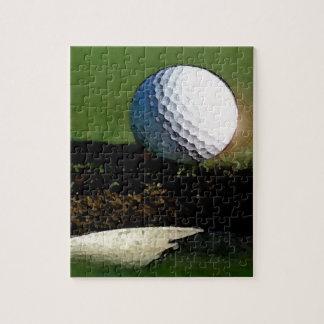 Golfboll & hål pussel