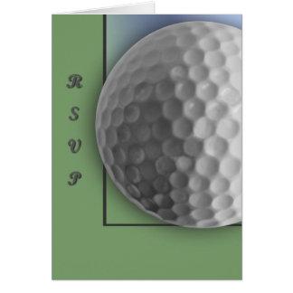 Golfboll Hälsningskort
